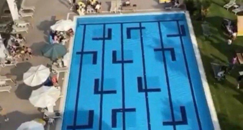 Pendik'te havuz başında DJ eşliğinde korona virüs partisi