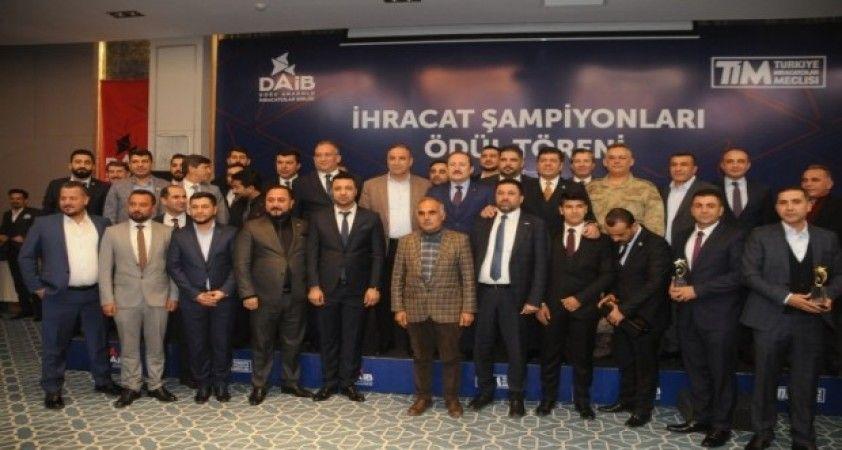 Şırnak'ta 2019 yılı ihracat şampiyonları ödüllendirildi