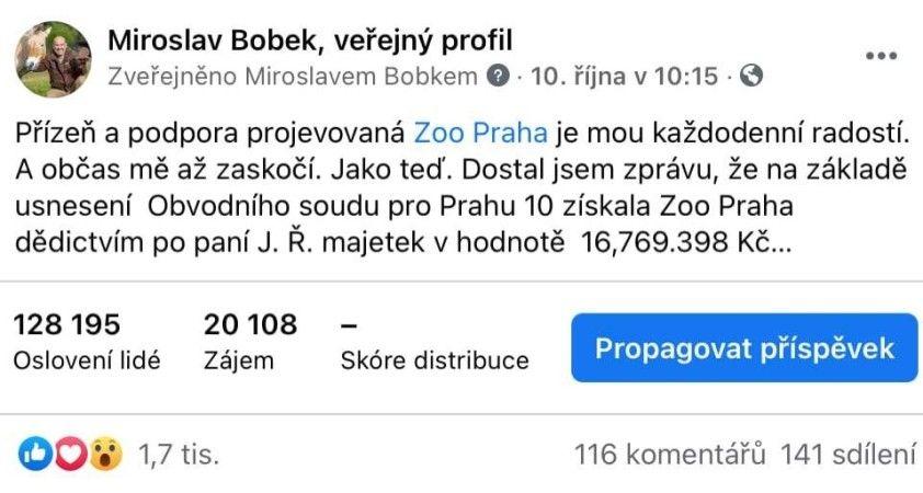 Çekya'da bir hayvanat bahçesine yaklaşık 7.4 milyon TL miras kaldı