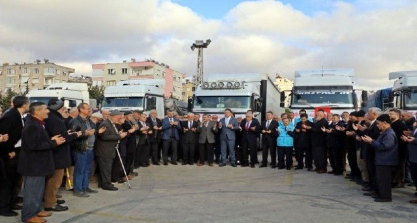 Müftülük yardımları dualar eşliğinde Elazığ ve İdlib'e uğurlandı
