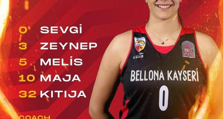 Bellona Kayseri Basketbol'da 5 oyuncu çift haneli sayılara ulaştı