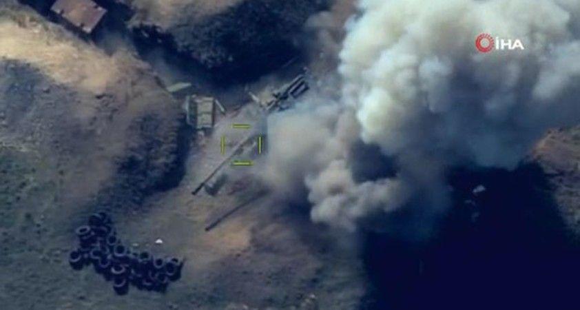 Azerbaycan ordusu, Ermenistan ordusuna ait askeri teçhizatları imha etti