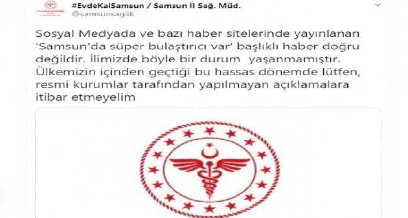 Samsun Sağlık Müdürlüğünden Prof. Dr. Çetiner'e yalanlama: