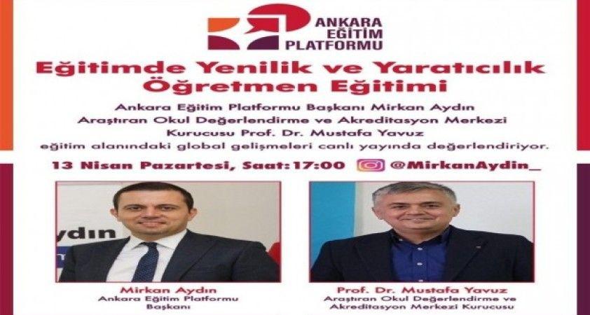 Ankara Eğitim Platformu, canlı yayınla aile ve öğretmen eğitimleri düzenleyecek