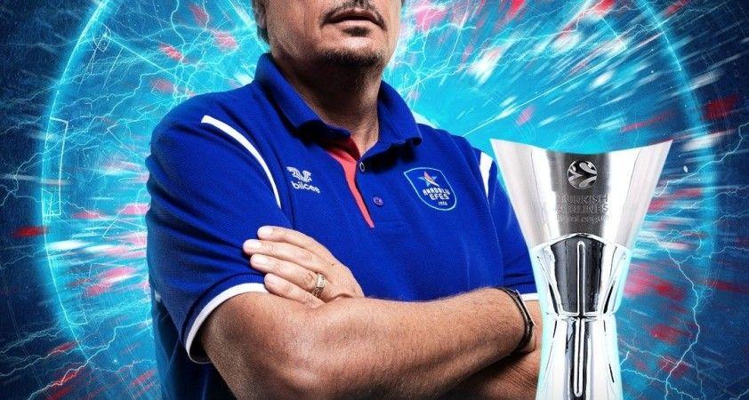 Anadolu Efes'in Başantrenörü Ergin Ataman, THY Euroleague'de yılın koçu seçildi.