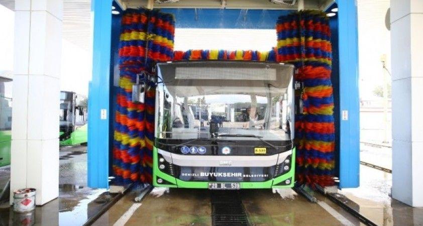 Denizli Büyükşehir otobüsleri 365 gün temizleniyor