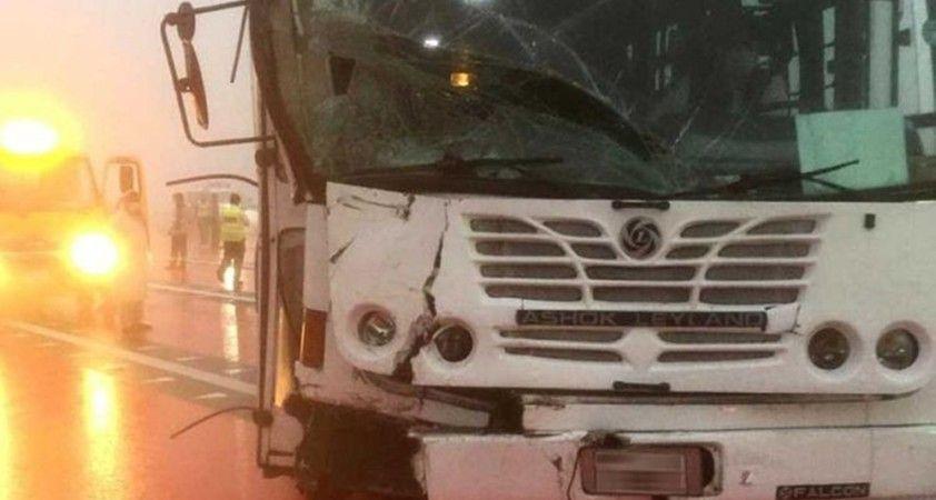 BAE'da yoğun sis nedeniyle zincirleme kaza: 1 ölü, 8 yaralı
