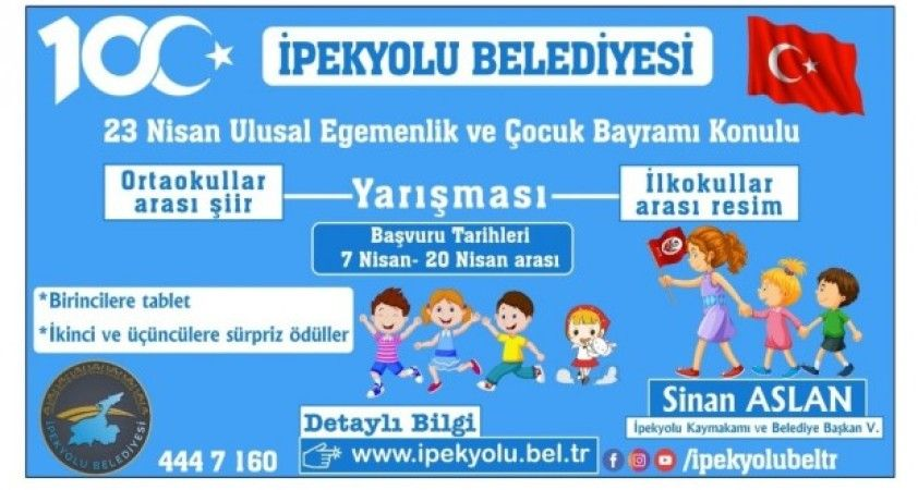 İpekyolu Belediyesinden resim ve şiir yarışması