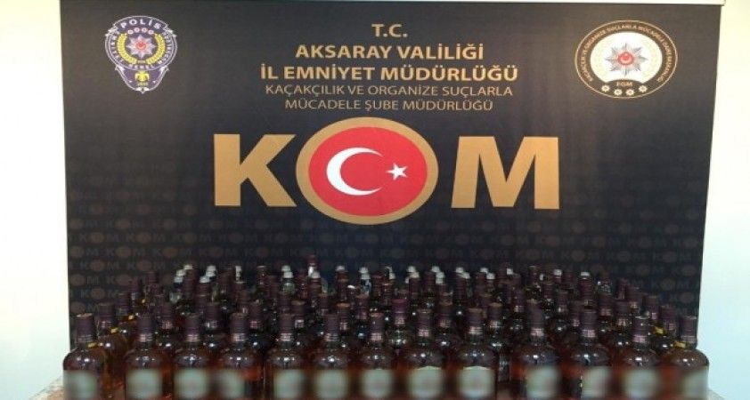 Aksaray'da sahte içki operasyonu: 1 tutuklama