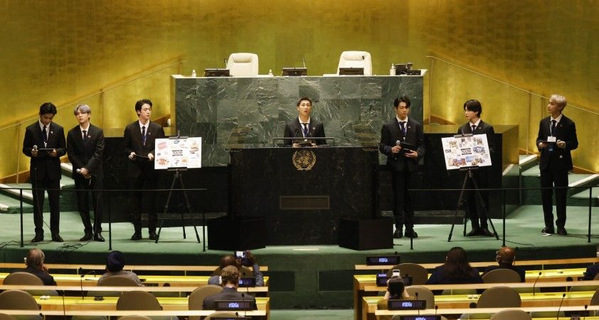 BM Genel Kurulu'nda BTS rüzgarı