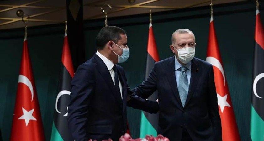 Cumhurbaşkanı Erdoğan, Libya Başbakanı Dibeybe ile telefonda İsrail'in saldırılarını görüştü