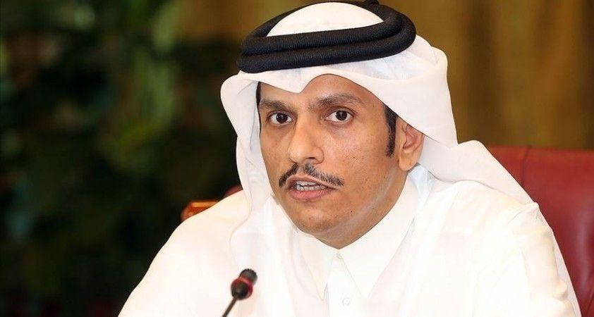 Katar: Filistin'in başkenti Kudüs olan bağımsız devlet kurma hakkını desteklediğimizi yineliyoruz