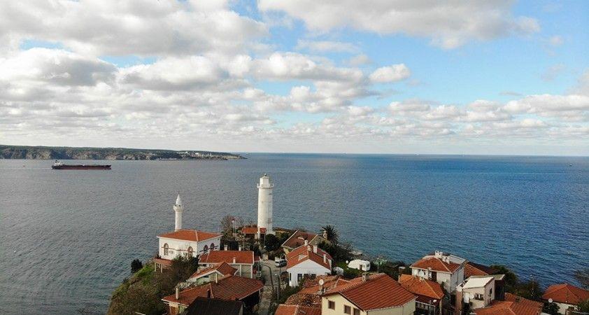 Bakan Karaismailoğlu'nun restore edileceğini duyurduğu Anadolu Feneri havadan görüntülendi