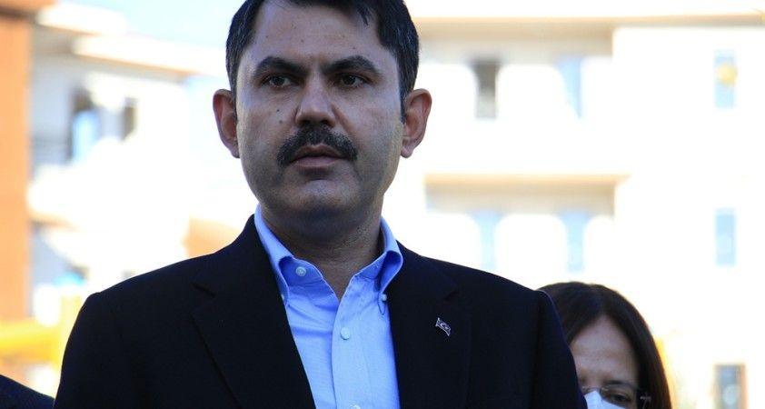 """Bakan Kurum: """"Elazığ'da 19 bin 500 konuttan 2 bin 500'ünü tamamladık"""