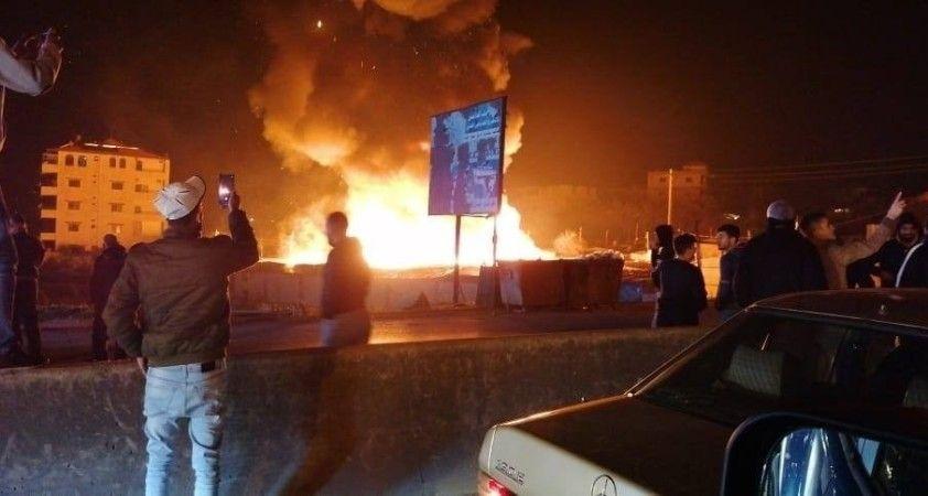 Lübnan'da mültecilerin kaldığı kampta yangın