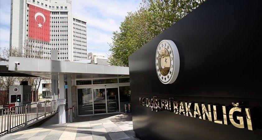 Dışişleri Bakanlığından Irak'taki terör saldırısına kınama