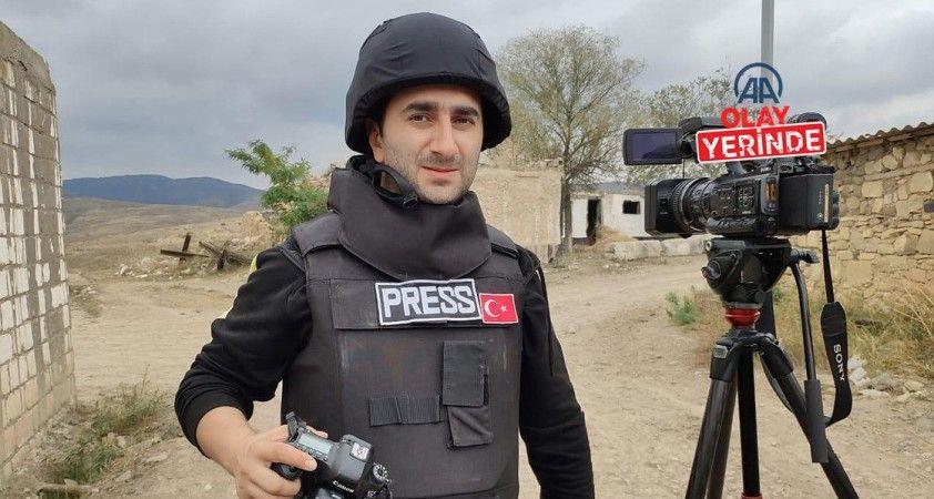 AA'nın savaş muhabirliği eğitimini alan gazeteciler Dağlık Karabağ cephesinde