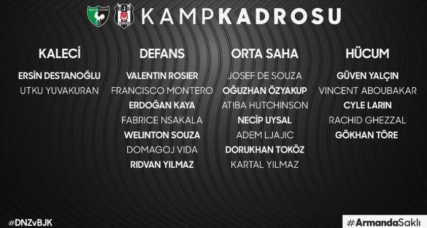 Beşiktaş'ın Denizlispor maçı kamp kadrosu belli oldu