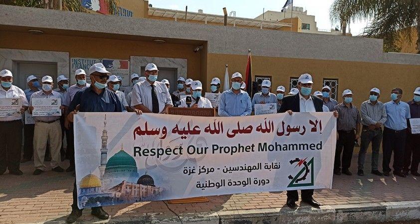 Gazze halkından Fransa karşıtı gösteri
