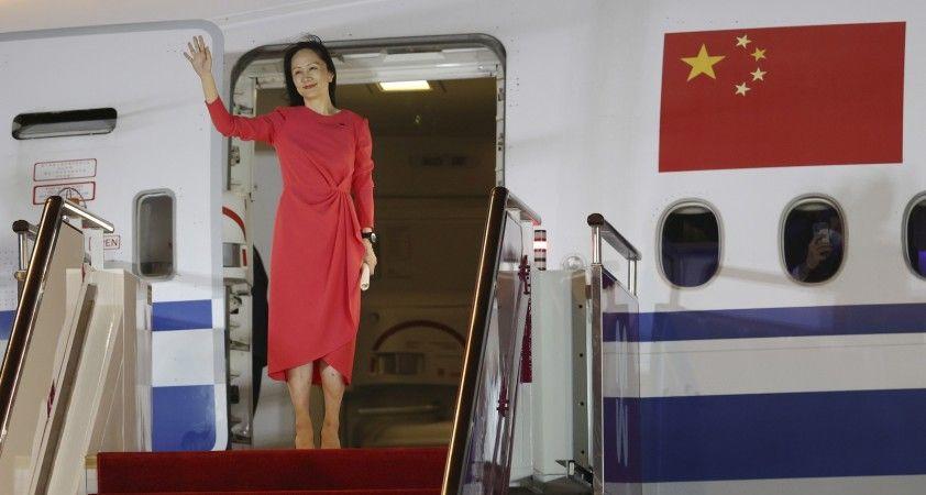 Kanada'nın serbest bıraktığı Huawei Mali İşler Direktörü Meng, Çin'e geri döndü