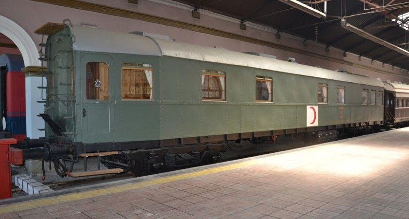 Asırlık 'Sıhhiye Vagonu' ziyaretçilerini bekliyor