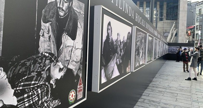 Hocalı katliamı 29. yılı resim sergisi İstiklal Caddesi'nde