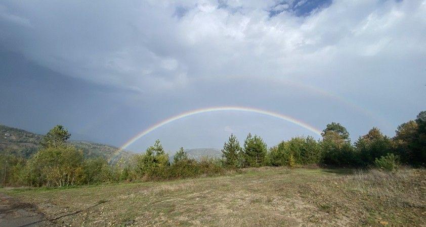 Yağmur sonrası çifte gökkuşağı oluştu